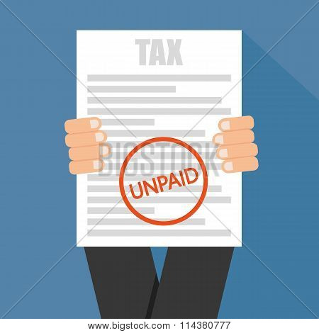 Taxes Icon Unpaid.  Vector