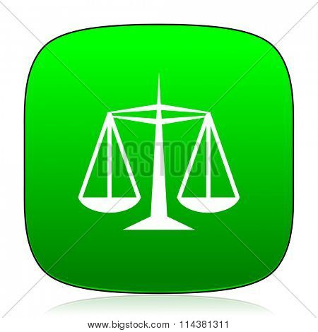 justice green icon for web and mobile app