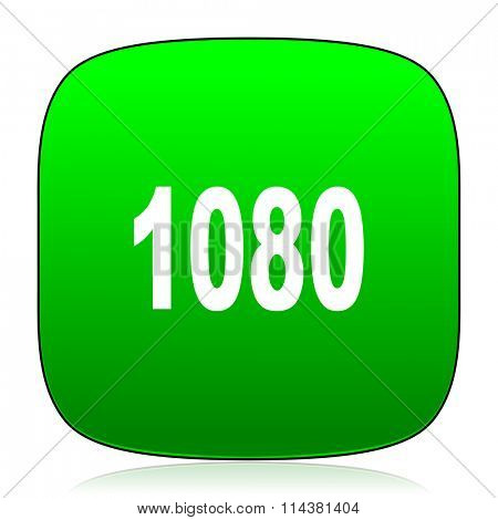 1080 green icon for web and mobile app