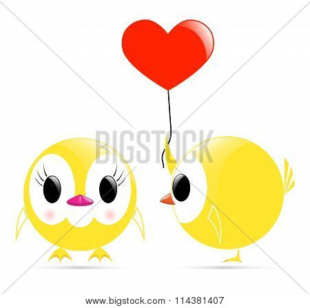 Vector Chick Heart Chick
