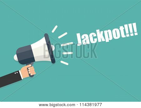 Hand Holding Megaphone - Jackpot