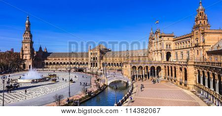 beautiful plaza Espana in Seviglia, Spain