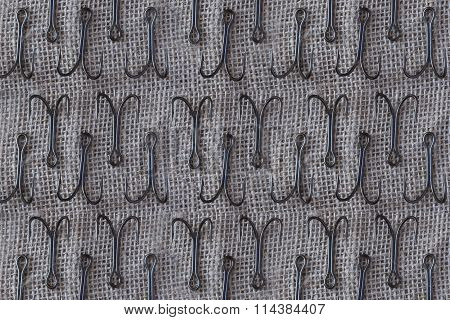 Vintage Fishing Hooks Background