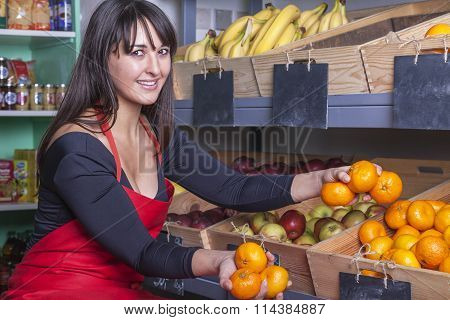 Shop Assistant At The Greengrocer