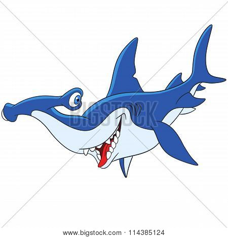 Cute Cartoon Hammerhead Shark
