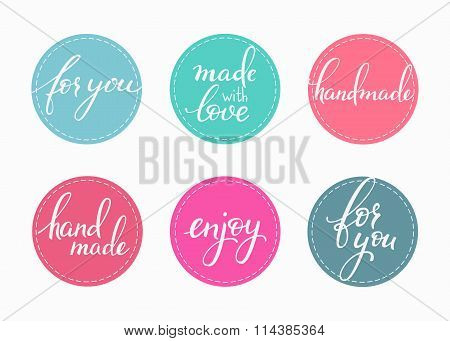 Handmade Lettering Sticker Set