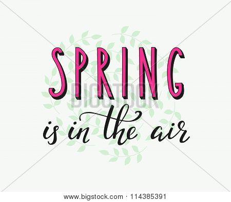 Spring Lettering Card