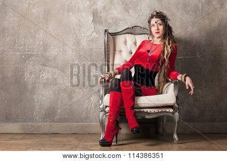 Woman In An Armchair