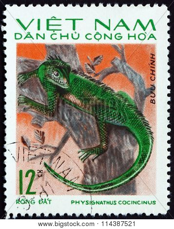 Postage Stamp Vietnam 1975 Chinese Water Dragon, Lizard