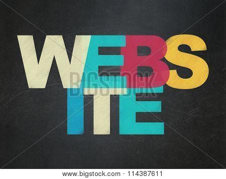 Web development concept: Website on School Board background