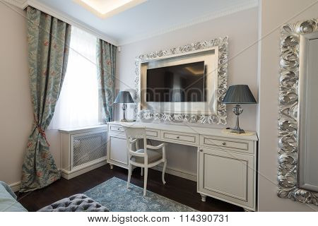 Dressing Table In Bedroom Interior