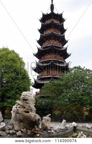 Longhua temple in Shanghai People's Republic of China