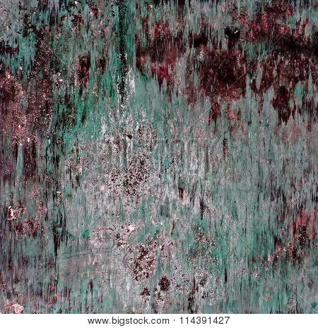 Wooden Smooth Abstract And Grunge Vintage Background, Red, Green.