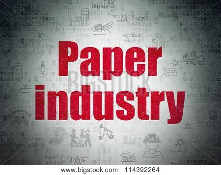 Industry concept: Paper Industry on Digital Paper background