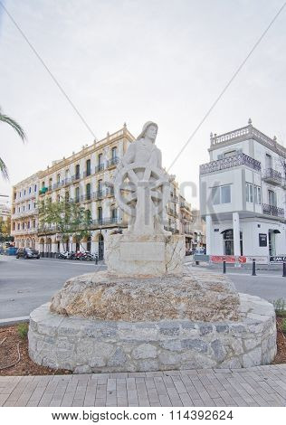 Memorial Seafarer Statue Ibiza
