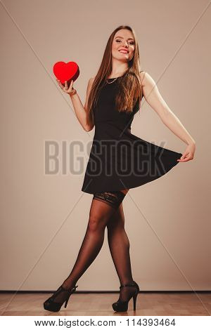 Sexy Woman Dancing With Heart
