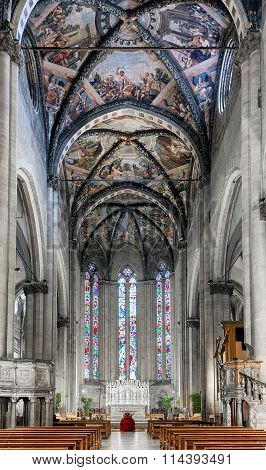 Arezzo Cathedral Central Nave