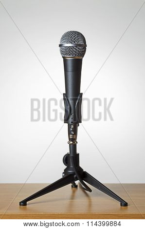 Microphone with grey background