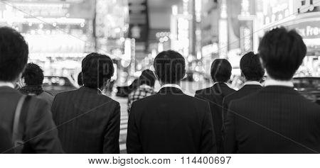 Businessmen in Shinjuku, Tokyo, Japan.