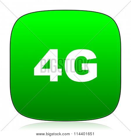 4g green icon for web and mobile app