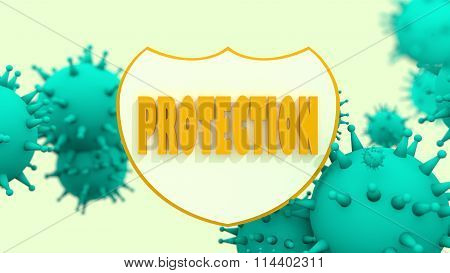 Immune Protection System. Bacteria, Virus  Infection