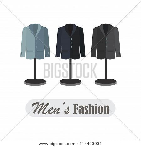 Dummies Show A Set Of Men Cloths.