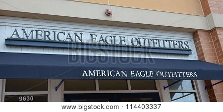 American Eagle Logo  And Awning
