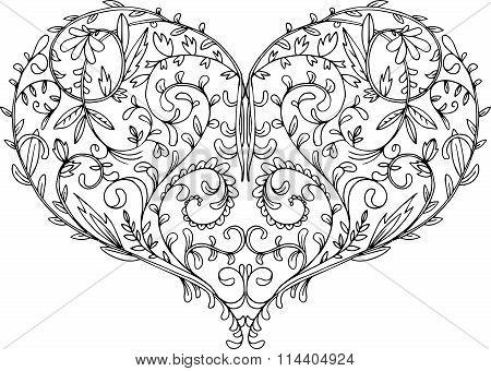 openwork patterned heart