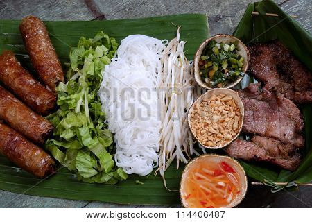 Vietnamese Food, Spring Roll, Cha Gio, Roast Meat