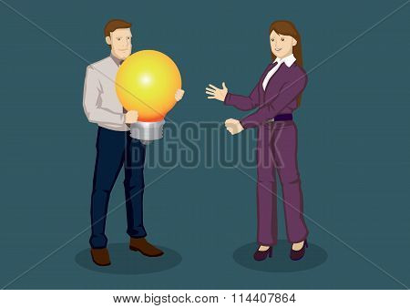Big Business Idea Vector Illustration