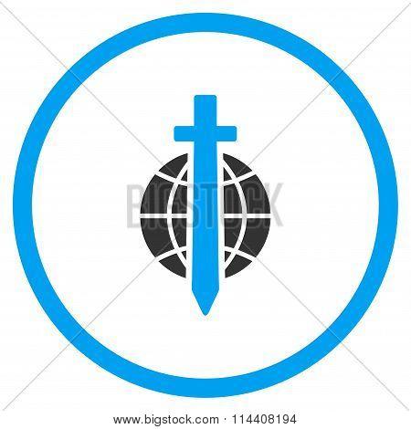 Globe Sword Icon