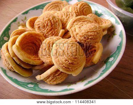 Chinese yumcha dimsum flaky pastry