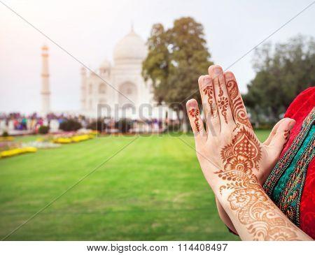 Namaste Taj Mahal