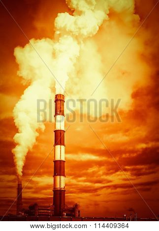 Global Warming Chimney Stack Emissions