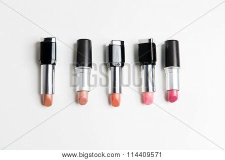 close up of lipsticks range