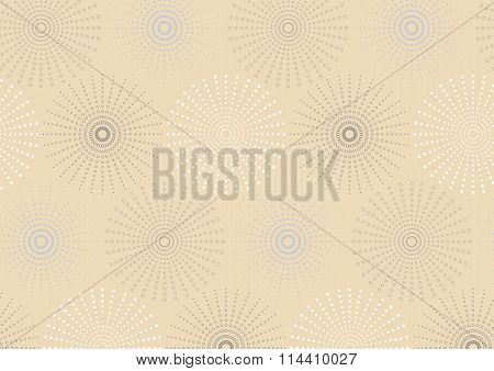 Dotted Line Spherical Geometric Seamless Pattern