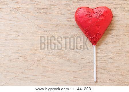 Chocolate hearts candies
