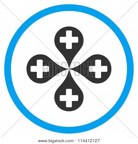 Hospital Map Markers Icon