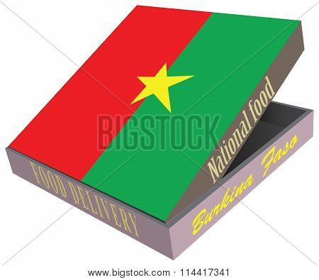 Box For Food Delivery To The Burkina Faso Cuisine