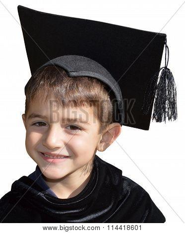 Cute Kid Graduate With Graduation Cap