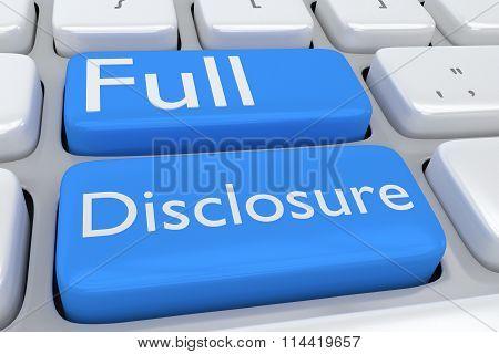 Full Disclosure Concept