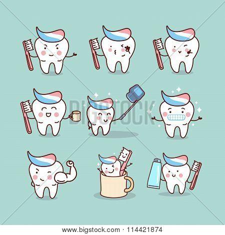 Cute Cartoon Tooth Brush Concept