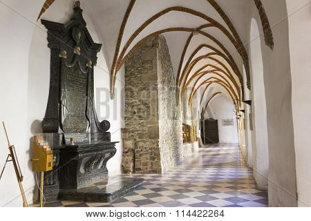 Inside the Holy Cross Monastery, Poland