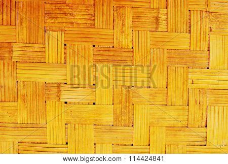 bamboo wall texture of Thai house