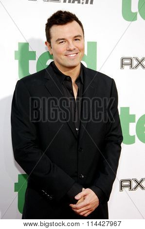 LOS ANGELES, CALIFORNIA - June 21, 2012. Seth MacFarlane at the Los Angeles premiere of 'Ted' held at the Grauman's Chinese Theater, Los Angeles.