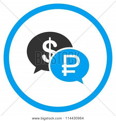Rouble Dollar Transaction Icon