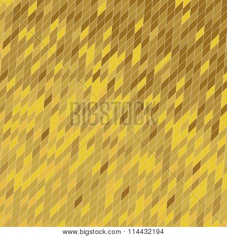 Vector abstract geometric background in gold.