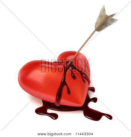 Strong Bleeding Heart With Arrow.