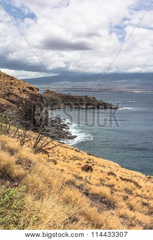 Maui coast in a cloudy day, Hawaii