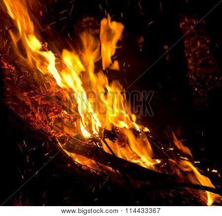 Big Flame In The Night